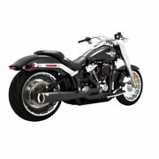 Vance And Hines Black Pro Pipe 2-1 Exhaust Full System Harley Softail Fat Boy