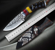 Damascus Steel Fixed Blade Knife Outdoor Survival Tools Hunting Camping Knives