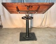 Antique Industrial Drafting Table / Work Bench, General / Country Store