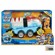 Paw Patrol Dino Rescue Dino Patroller Vehicle With Chase And T-rex Figures -...
