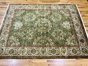 Soft Olive Highdensity Superfine Sultan-abad Newzealand Wool Rug 10andrsquo-0andrdquox8andrsquo-1andrdquo