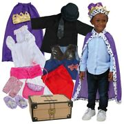 Kaplan Early Learning Pretend Play Dress-up Trunk - 20 Pieces