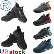 Menand039s Safety Work Shoes Steel Toe Bulletproof Boots Indestructible Sneakers Size