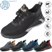 Indestructible Safety Work Shoes Steel Toe Breathable Work Boots Mensand039 Sneakers