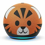 All-new Echo Dot 4th Gen Kids Edition, With Parental Controls, Tiger