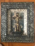 1877 Catholic Religious Crucifix 'tools Of The Passion' Shadow Box Wall Art
