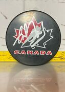Gilbert Perreault - Autographed Puck - Hand Signed Team Canada - Sabres
