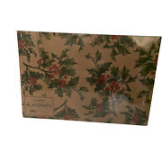 Hester And Cook Holly Disposable Paper Placemats 30 Sheets Sealed Made In The Usa