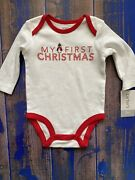 Carters My First Christmas Long Sleeve Bodysuit New Size 3 Months