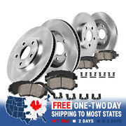 For A6 Front 312 Mm And Rear 245 Mm Brake Disc Rotors And Ceramic Pads