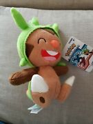 Pokemon Go 8 Chespin Plush Official Tomy X Y Spiny Nut New Nwt 2015