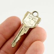 Vintage Mercury Division Coat Of Arms 1950's Ignition Door Ford Old Car Key