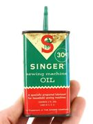 Vintage Singer Sewing Machine Handy Oiler Advertising Tin Oil Can Antique Old