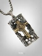 Templar Knights Seal Brass And Solid Sterling Silver 925 Pendant By Ezi Zino