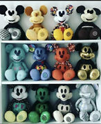 Mickey Mouse Memories Plush New Complete Set Of 12 Plus Large 90th Gold Mickey