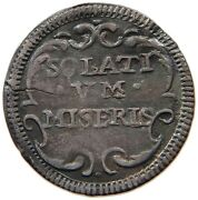 Papal States 1/2 Grosso 1727 Solativm Miseri Benedict Xiii. T96 521