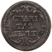 Papal States 1/2 Grosso 1722 Charitas Flvit Innocent Xiii. T96 513