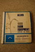 Super Cool Vintage Complete 1966 Allied Farm Equipment Catalog And Prices Guide