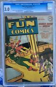 More Fun Comics 91 1943 Cgc 3.0 -- Green Arrow And Speedy Cover And Story