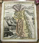 Egypt 1720 Jb Homann Large Antique And Decorative Engraved Map 18th Centurry
