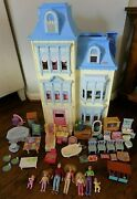 Fisher Price Loving Family Sweet Sounds Victorian Dollhouse Furniture 7 Dolls