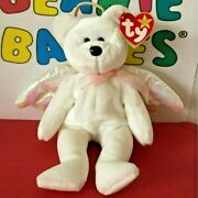 Rare 1998 Ty Beanie Baby Halo The Angel Bear Brown Nose Retired 4208 Gc