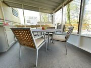 Aluminum And Teak Archetype 6 Chairs And Table By Michael Vanderbyl For Mcguire