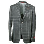 Isaia Slim-fit And039capriand039 Layered Check Super 140s Wool Suit 44r Eu 54 Peak Lapel