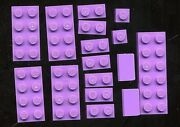 Lego Lot Of 16 Misc Lavender Flats From Friends Summer Riding Camp 3185