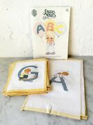 Precious Moments Cross Stitch Alphabet Book+22 Completed A-v Wall Hanging/quilt