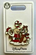 🎅 Disney Parks Chip And Dale With Candy Canes And Santa Claus Christmas Holiday Pin