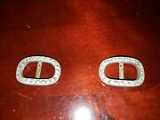 Rare Vintage Fg Co Diamond Silver Swiss Gely Freres Shoe Buckles 1800s Lot Jewel