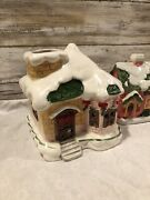 Christmas Village Houses Lot Light Up With Candles