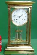 Land039epee Vintage French 8 Day Four Glass Crystal Regulator Mantle Table Clock 10kg