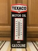 Texaco Thermometer Gasoline Motor Oil Advertising Vintage Style Wall Decor Star