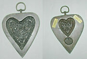 Excellent Laxa Family Two-sided Springerle / Speculaas Cookie Mold. 2 Hearts.