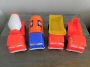 Vintage Gay Toys Inc. Set Of Four Plastic Toy Trucks - Items 535 - Made In Usa