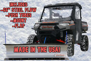 Kfi 66 Utv Snow Plow - 15-16 Polaris 570 Ranger Xp Full-size 4x4 Crew 900 Body