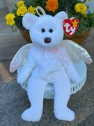 Ty Beanie Baby Halo Bear 1998 Tush 459 Rare Tag Errors Brown Nose Mint Unique
