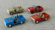 Lot Of 4 Johnny Lightning Ford Bronco's Beach Rescue, Working Class, 40th Anniv.