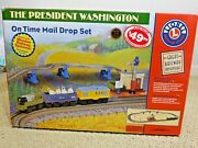 Lionel President Washington On Time Mail Drop Train Set Learning Curve Battery