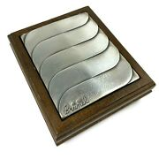 Brunel Sterling Silver And Wood Jewelry Or Cigarette Vintage Italy Box 1960's