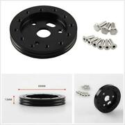 Practical Black Aluminum 0.5 Hub For Autos Automobile 5 And 6 Hole Steering Wheel