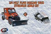 Kfi Utv 72 Pro Poly Hydraulic Angle Plow Package - 10-19 Can Am 800 Commander