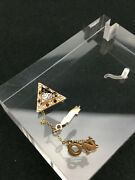 Phi Mu Alpha Sinfonia Badge With Nu Omicron Chapter 10k Gold Fraternity Pin