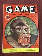 1932 Vol.11 Game Stories High Grade Pulp-style Magazine Cannibalshunting/fish