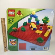 Lego Duplo 2598 Base Plate Red Preschool Building Toy 2009 Retired New See ⭐️