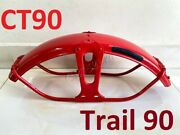 1969-1979 Honda Ct90 Trail 90 Red Front Fender. Fits 1980-1986 Ct110 Mudguard