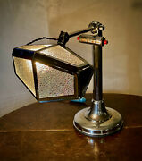Rare Pirouette Art Deco Industrial Desk Lamp With Calendar 1920-30s Gift Ready