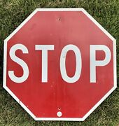 Authentic Stop Sign Metal Reflective Street Traffic Road Sign 30 X 30 Wv Doh